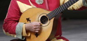 Musik auf mittelalterlichem Markt