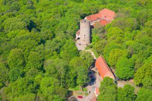 Burg Rabenstein aus der Luft