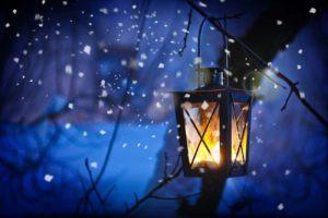 Laternenlicht zu Weihnachten