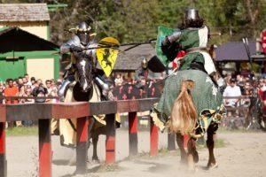 Ritterturnier auf Pferden