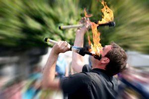Feuerschlucker auf Mittelalterfest